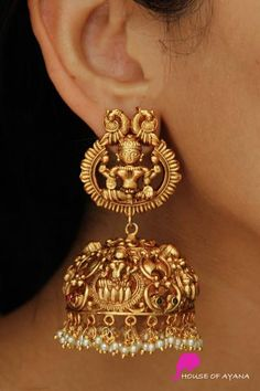 Earring Sets Shop In Chennai Indian Jewelry Earrings, Indian Jewelry Sets, Jewelry Design Earrings, Indian Wedding Jewelry, Gold Earrings Designs, Gold Jewellery Design, Antique Earrings, Jhumka Designs, Gold Temple Jewellery