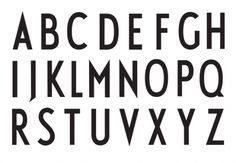 Arne Jacobsen's typeface for Aarhus City Hall, 1937