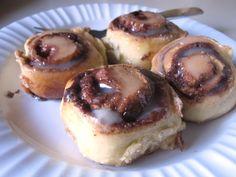 paula deen's cinnamon rolls. lactose free.