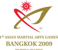The 1st Asian Martial Arts Games were held in Bangkok, Thailand from August 1, 2009 to August 9, 2009 in 9 sports. Due to Political crisis in Thailand And 2009 Swine Flu, the Bangkok Asian Martial Arts Games Organizing Committee (BAMAGOC) and the National Olympic Committee (NOC) of Thailand decided that Asian Martial Arts Games moved from the original schedule of April 25 to May 3 now on August 1 - 9