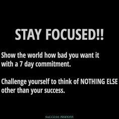 #StayFocused -