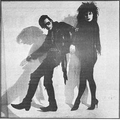 Andrew Eldritch & Patricia Morrison of The Sisters Of Mercy. Aren't they lovely goths? #music