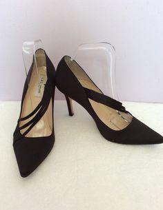 70e36f56290 LK BENNETT BLACK SATIN HEELS SIZE 6 39 - Whispers Dress Agency - Womens  Heels