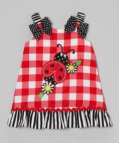 Red Ladybug Swing Dress