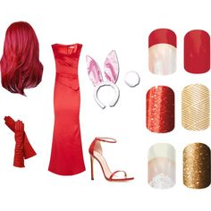 """""""Jamberry Name the Character game"""" by julieanderson-i on Polyvore Jessica Rabbit--Who Framed Roger Rabbit Order at www.erinstilson.jamberrynails.net"""