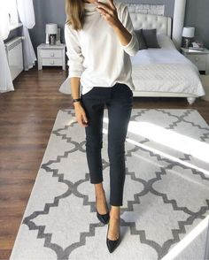 20 Warm Work & Office Outfits Ideas for Women When It's Cold - Outfits for Work - Casual outfits - Cold Outfits, Casual Winter Outfits, Womens Business Casual Outfits, Classy Outfits, Dinner Outfits, Winter Business Casual, Winter Professional Outfits, Young Professional, Casual Winter Style