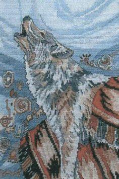 Spirited Blanket Wolf by Lynn Bean for Cross Stitch Wonders