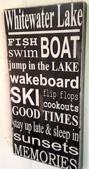 Personalized Lake Sign -- Lakehouse Lifestyle Online Store
