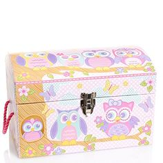 1 Kids Storage Trunk/chest Store and Organize Your Little One Treasures (Medium Owl Party)  sc 1 st  Pinterest : owl storage trunk  - Aquiesqueretaro.Com