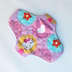 Cotton Hello Kitty & Flowers Pantyliner / by AssorbentiLavabili, €6.00
