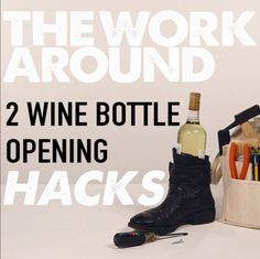 No corkscrew? No problem! Two easy hacks to help you open a wine bottle. >> https://www.facebook.com/HGTV/videos/10153823437324213/