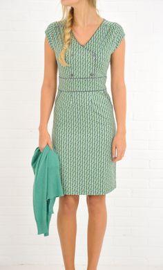 Graphic retro style dress