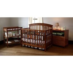 Love this set! Summer Infant - Fairfield Crib, Changing Table and Dresser 3 PC Set, Auburn