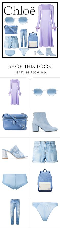 """set for amazing"" by denisee-denisee ❤ liked on Polyvore featuring Natasha Zinko, Garrett Leight, 10 Crosby Derek Lam, Stuart Weitzman, Polly Plume, Nobody Denim, Marlies Dekkers, Herschel Supply Co., Love Moschino and Chloé"