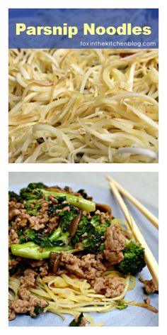 Tutorial: How To Cook Parsnip Noodles {by Fox in the Kitchen}