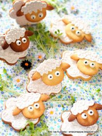 ciastka kruche, figurki owieczki, owce, wielkanoc, diamantowa kuchnia, diamant, wielkanocne wypieki, Yummy Cookies, Cake Cookies, Sugar Cookies, Cupcake Cakes, Farm Party, Polish Recipes, Royal Icing Cookies, Easter Recipes, Cute Food