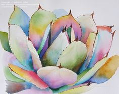 gorgeous succulent painting