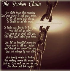 The Broken Chain...Miss you always...R <3