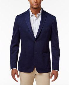 Bar III Men's Slim-Fit Navy Solid Sport Coat, Only at Macy's - Blazers & Sport Coats - Men - Macy's