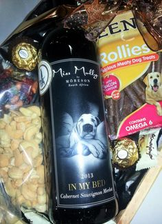 """Close up of the Miss Molly """"In My Bed"""" Cabernet Sauvignon Merlot"""