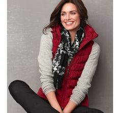 DOWN VEST - Red from Johnston & Murphy