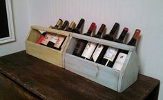 New use for an old tool box. Wine storage!