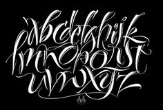 THE ART OF HAND LETTERING: My Alphabet Practice for Today Chicano Lettering, Graffiti Lettering Fonts, Tattoo Lettering Fonts, Creative Lettering, Lettering Styles, Lettering Ideas, Alphabet Symbols, Hand Lettering Alphabet, Graffiti Alphabet