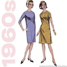 1960s Vintage Pattern - Criss Cross Dress Sewing Pattern - Advance 3569