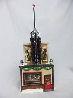 Dept 56 55010 Wsno Radio Station Tower Snow Village Complete 3D Scene Lights   eBay $69.95