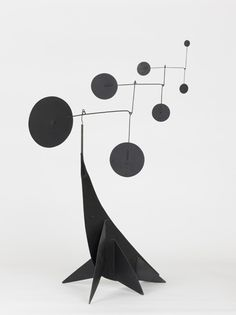 Alexander Calder 1950.    Performing Seal  Painted sheet metal and steel wire, 33 x 23 x 36 inches. Museum of Contemporary Art, Chicago.
