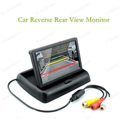 hot sell TFT LCD Foldable Car Rear View Monitor 4.3 inch reverse priority add CCD Car Camera Night Vision