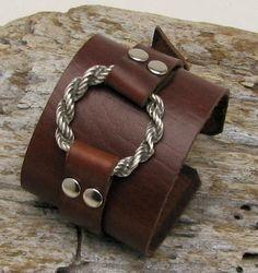 FREE SHIPPING  Women's leather bracelet Handmade by eliziatelye, $25.00