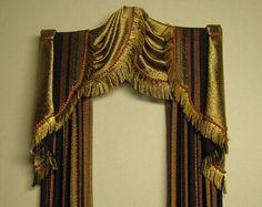 Miniatura 1:12 cortinas de casa de muñecas a pedido