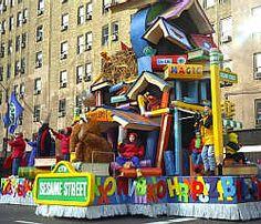 Macys Thanksgiving Day Parade Sesame Street float