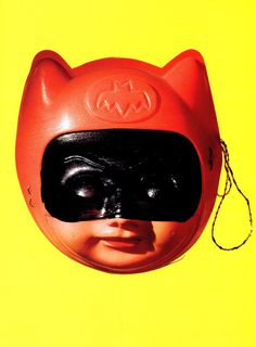 JapaneseBatman children's mask circa 1967 ::scanned from Chip Kidd's Bat-Manga :: Pantheon Books :: 2008
