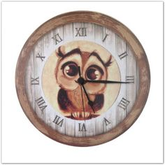 Pinkbagoly: Hazai kézműves termék! Fa vintage stílusú baglyos ... Clock, Vintage, Home Decor, Watch, Decoration Home, Room Decor, Vintage Comics, Clocks, Primitive