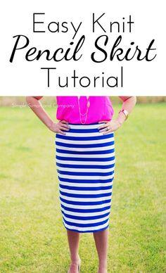 Knit Pencil Skirt Tutorial-Midi Length - Simple Simon and Company