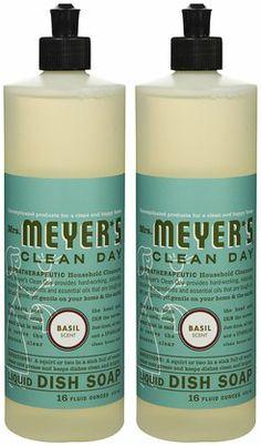 mrs meyeru0027s clean day liquid dish soap basil 16 oz2 pack