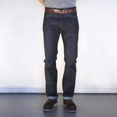 John Graham Mellor Slim Straight Jeans made in San Francisco, CA by Tellason. Purchase to support 2 American workers.