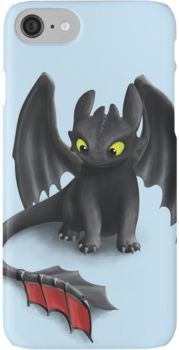 Toothless, Night Fury Inspired Dragon. iPhone 7 Cases
