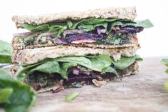 beet green pesto panini with roasted beets | Dishing Up the Dirt