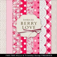 Far Far Hill: New Freebies Kit - Berry Love