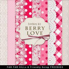 Far Far Hill: New Freebies Kit - Berry Love