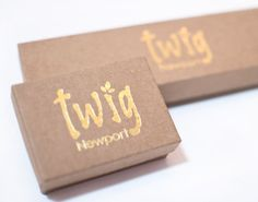 Image result for foil logo on kraft box