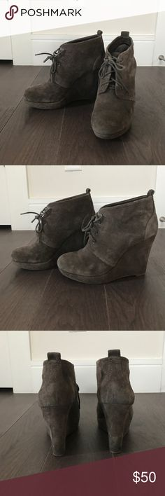 Wedge Ankle Bootie By Jessica Simpson. Worn a handful of times, great condition. Jessica Simpson Shoes Ankle Boots & Booties