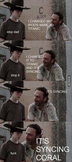 It's synching Coral!!!   Walking Dead