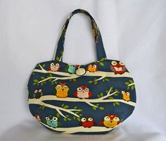 Owl bag for girls, Blue owl bag, girls owl handbag
