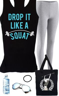 at the  with this super cute workout gear! Featuring a DROP IT LIKE A SQUAT and MARILYN MONROE LIFTING Tote. By NoBullWomanApparel, $24.99 on Etsy. Click here to buy