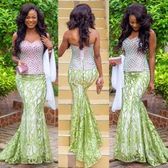 Fabulously & Fascinating Wedding Guests Styles That Will Make You the Best-Dressed Guest - Wedding Digest Naija African Lace, African Wear, African Style, African Outfits, African Clothes, African Women, African Attire, Kitenge, Kente Dress