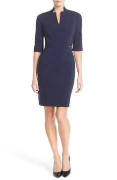 Tahari Bi-Stretch Sheath Dress
